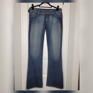 NWOT: Bootcut Faded Jeans w/Bling